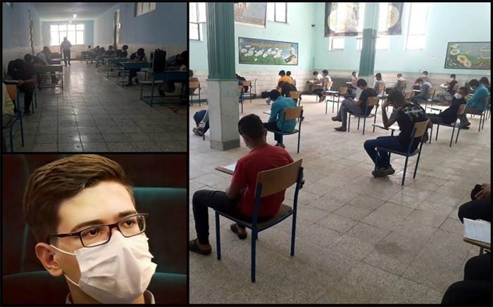 بازدید نماینده مجلس دانشآموزی از حوزه های امتحانی پسران در قم