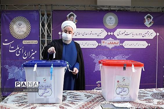 حضور رییس جمهوری در سیزدهمین دوره انتخابات ریاست جمهوری
