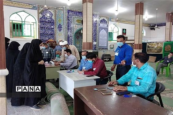 حضور پر شور مردم بخش بهمن ابرکوه در انتخابات