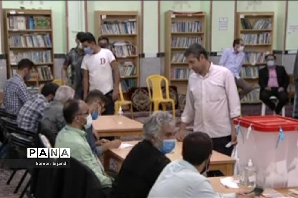 انتخابات پرشور مردم میدان در شهرستان بجنورد