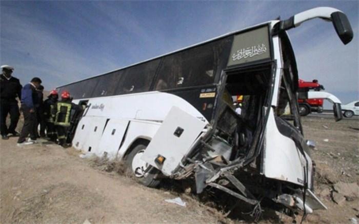 حادثه وازگونی اتوبوس