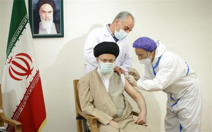 رهبر انقلاب دُز اول واکسن کوو ایران برکت را دریافت کردند