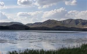 کاهش تراز آبی تالاب قوری گل بستان آباد