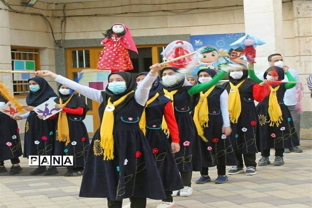 اجرای آیین باران خواهی یا چمچه خاتون در کانون پرورشی فکری کودکان استان