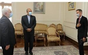 دیدار خداحافظی سفیر سوئیس در تهران با حضور ظریف