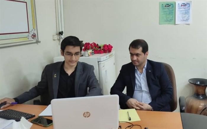 نشست اعضاء مجلس دانشآموزی استان همدان بصورت ویدئو کنفرانسی برگزار شد