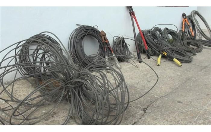 دستگیری سارق سیم برق شبکههای توزیع در بابل