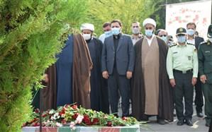 پیکر مطهر شهید گمنام در صدا و سیمای مرکز کهگیلویه و بویراحمد آرام گرفت