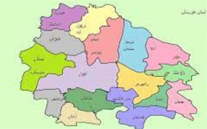 نقشه خوزستان