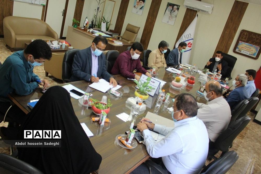 جلسه میزکار شهرستانها و مناطق معاونت پرورشی و فرهنگی آموزش و پرورش استان بوشهر