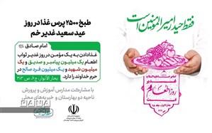 طبخ ۲۵۰۰ پرس غذا در عید غدیر با مشارکت مدارس و خیریه های محلی