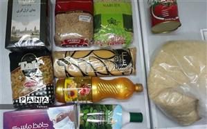 توزیع بستههای ارزاق به خانوادههای تحت پوشش مؤسسه«خیریه کوچک ما» در منطقه ۱۴