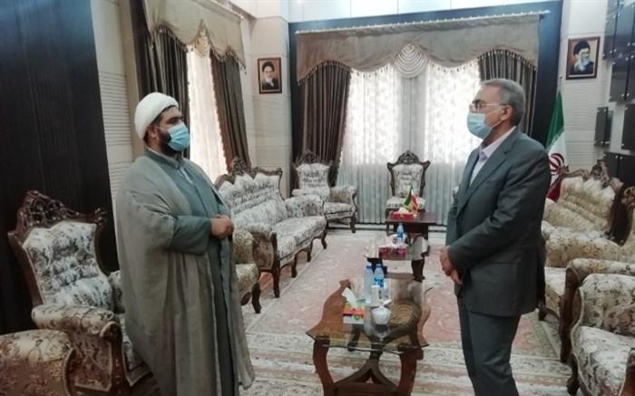دیدار مسئول اتحادیه انجمنهای اسلامی دانشآموزان هرمزگان با مشاور عالی استاندار