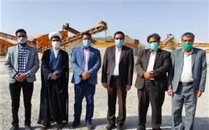 افتتاح کارگاه تولید شن و ماسه و سنگ شکن شهرداری حاجی آباد
