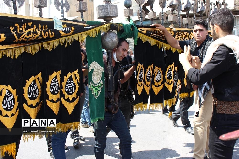 کرمانشاه سوگوار و سیاهپوش در عاشورای حسینی
