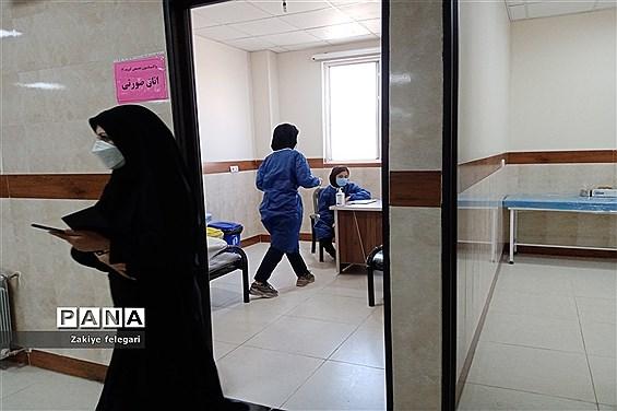 افتتاح مرکز واکسیناسیون درمانگاه مدافعان حرم شهرستان بهارستان