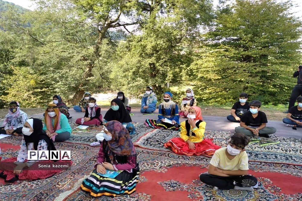 برگزاری موکب سیار کتابخوانی در روستای پلسک مازندران