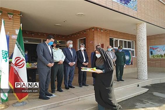 برگزاری مراسم نمادین برافراشته شدن پرچم جمهوری اسلامی ایران در شاهین شهر