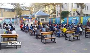 برگزاری جشن شکوفهها و شور عاطفهها در مدرسه ابتدایی شهریار ناحیه 6 مشهد