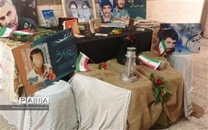 حضور دانش آموزان مشهدی برای آماده سازی مدرسه در هفته دفاع مقدس