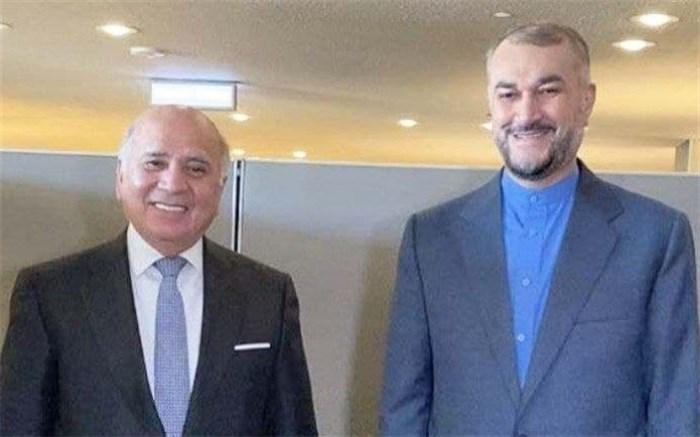 وزرای خارجه ایران و عراق