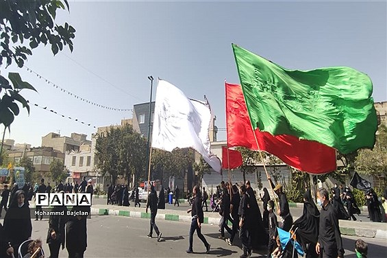 برگزاری مراسم راهپیمایی اربعین حسینی در تهران با حضور فرمانده کل سپاه  پاسداران انقلاب اسلامی