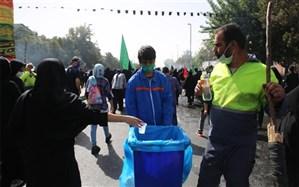 حضور بیش از ۵۰۰ نیروی خدمات شهری تهران در مسیر پیادهروی اربعین