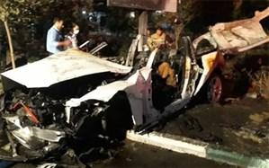 حریق مرگبار خودروی خارجی در بزرگراه مدرس