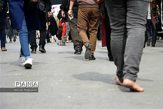 راهپیمایی عزاداران  امام رضا علیه السلام به سمت بارگاه مطهر رضوی