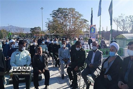برگزاری آیین غبار روبی و عطر افشانی مزار شهدا روستای دهنو خلیل آباد