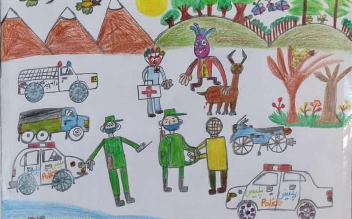 برگزیدگان مسابقه نقاشی هفته نیروی انتظامی در شهرستان گلوگاه معرفی شدند