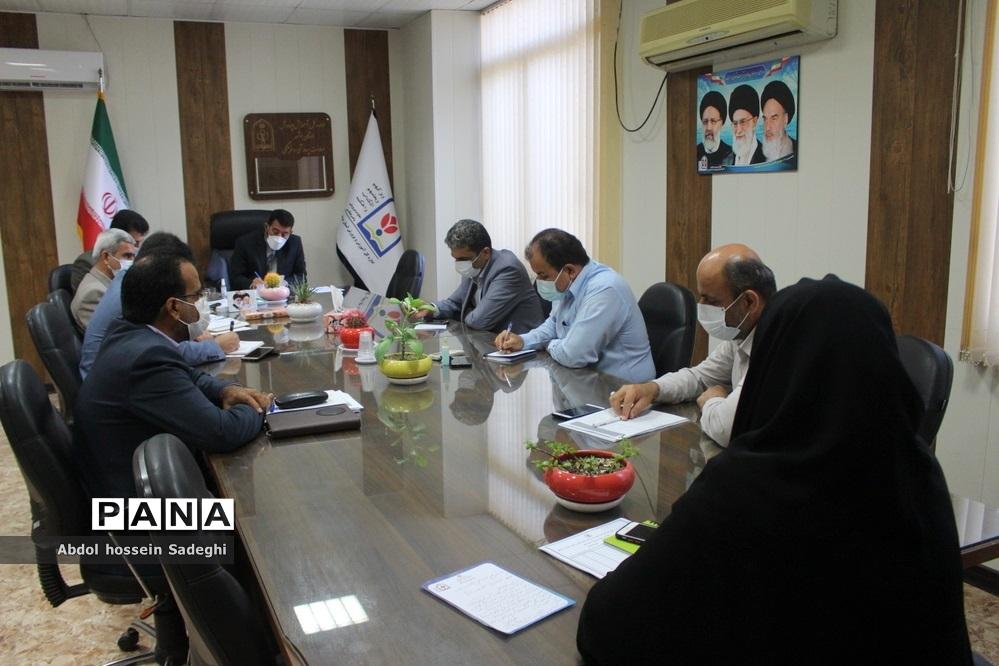 جلسه هماندیشی حوزه معاونت پرورشی و فرهنگی ادارهکل آموزش و پرورش استان بوشهر