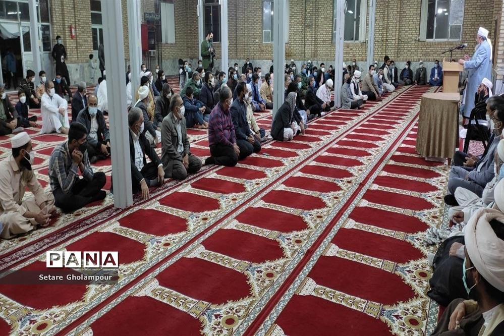 برگزاری جشن میلاد پیامبر اکرم در مسجدجامع اهل سنت درمیان
