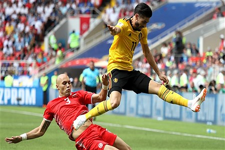 دیدار تیم های بلژیک و تونس   Getty Images