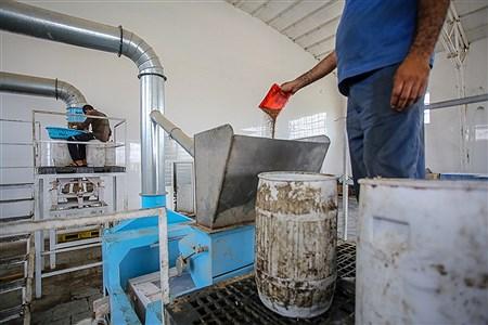 کارخانه تولید روغن کنجد که از سوی  بنیاد علوی در شهرستان قلعه گنج احداث شده است. | Ali Sharifzade