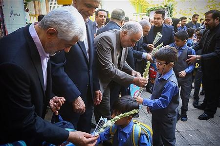 نواختن زنگ مهر در مدرسه ناشنوایان باغچهبان   Mahdi Maheri