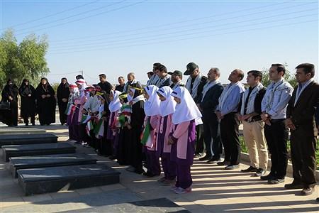 تجدید میثاق فرهنگیان اردستانی با شهدا  | alireza  saffarifar
