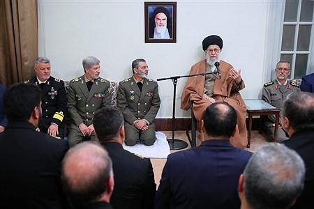 دیدار جمعی از فرماندهان ومسئولان نیروی دریایی ارتش با رهبر معظم انقلاب | khamenei.ir