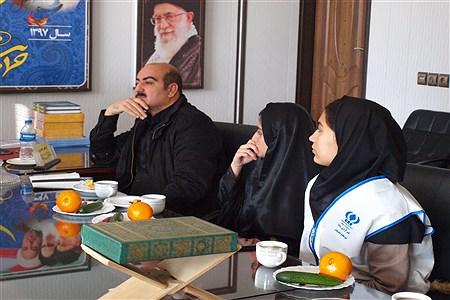 نشست خبرنگاران پانا با رییس اداره آموزش و پرورش فشافویه  | bahar aghazade