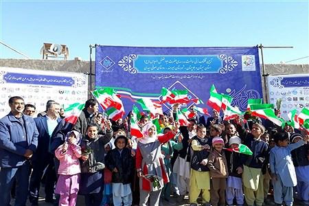 کلنگزنی مدرسهی 3 کلاسه حجت توسط خیرین موسسه پویش مهربانی در شهرستان هیرمند | yosof saranei