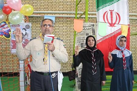 مراسم تحلیف دستمال گردن با حضور رئیس سازمان دانش آموزی استان همدان |