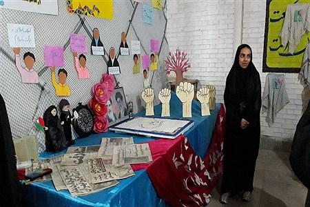 برپایی نمایشگاه 40 سالگی انقلاب در مدرسه دخترانه شهیده خوانساری همدان |