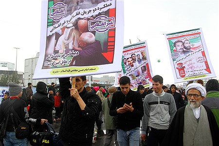 حضور سید محمد بطحایی، وزیر آموزش و پرورش، در راهپیمایی 22 بهمن  | Hossein Paryas