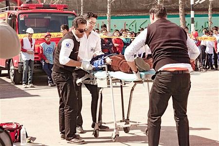 مانور استانی پیشگیری از حوادث چهارشنبه آخر سال در مشهد | alireza tavakoli