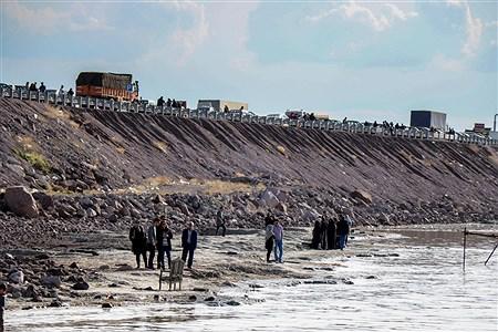 استقبال مردم از پرآبی دریاچه ارومیه   Amir Hosein Mollazade