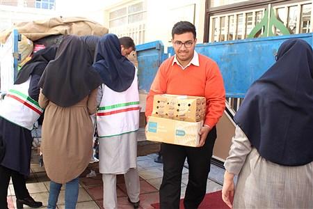 بسته بندی اقلام جمع آوری شده از دانش آموزان و فرهنگیان آذربایجان شرقی | Homa Samadi