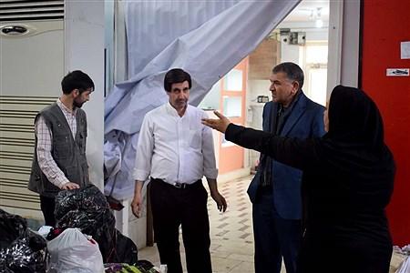 بازدید مدیر کل آموزش و پرورش آذربایجان شرقی از مرکز جمع آوری کمک به سیل زدگان  | Morteza Farzi