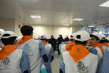 بازدید دانش آموزان پیشتازتهرانی  از مراکز و شعب سازمان تامین اجتماعی | tehran