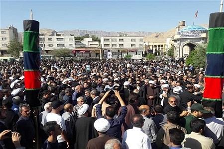 مراسم تشییع جنازه امام جمعه شهرستان کازرون | Koorosh Khezri Motlagh