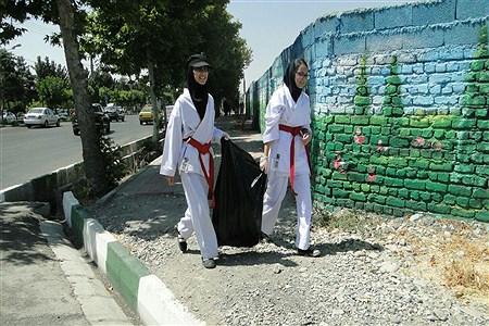 برگزاری طرح پاکروبی معابردر شهرستان ملارد | Seiedeh Zahra Samadi